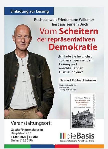 Lesung von Friedemann Willemer und Diskussion mit Dr. med. Eckhard Reineke