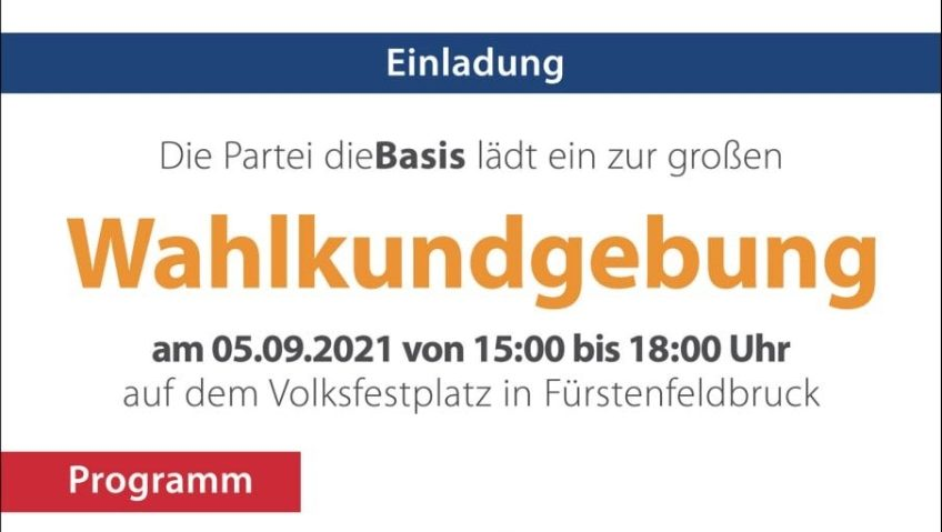 Wahlkundgebung, Volksfestplatz Fürstenfeldbruck