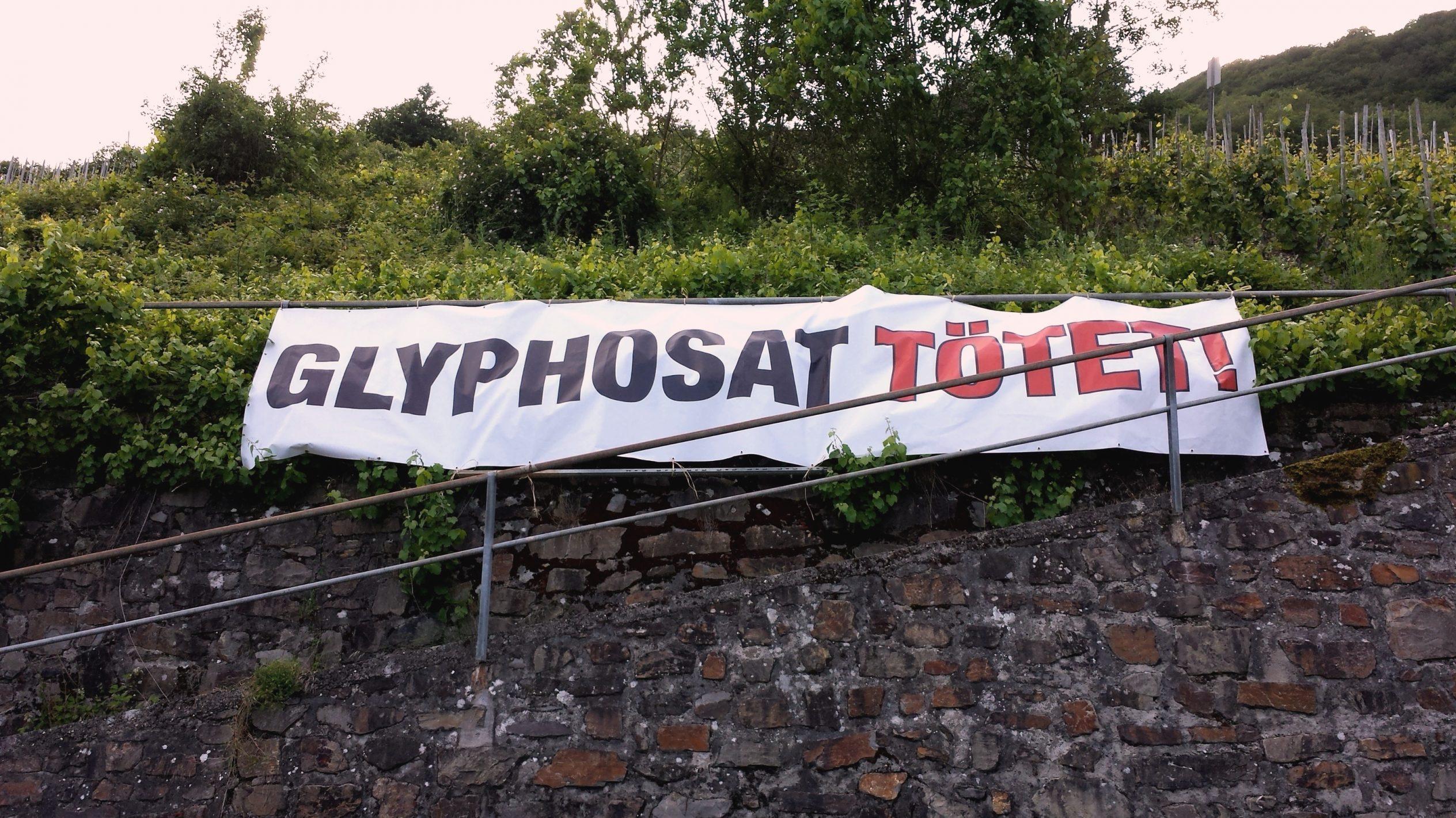 Banner Mit Aufdruck Glyphosat Tötet