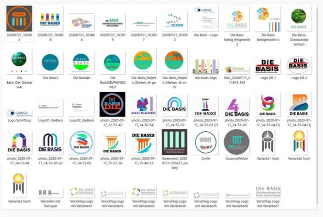 Auswahl vorgeschlagener Logos