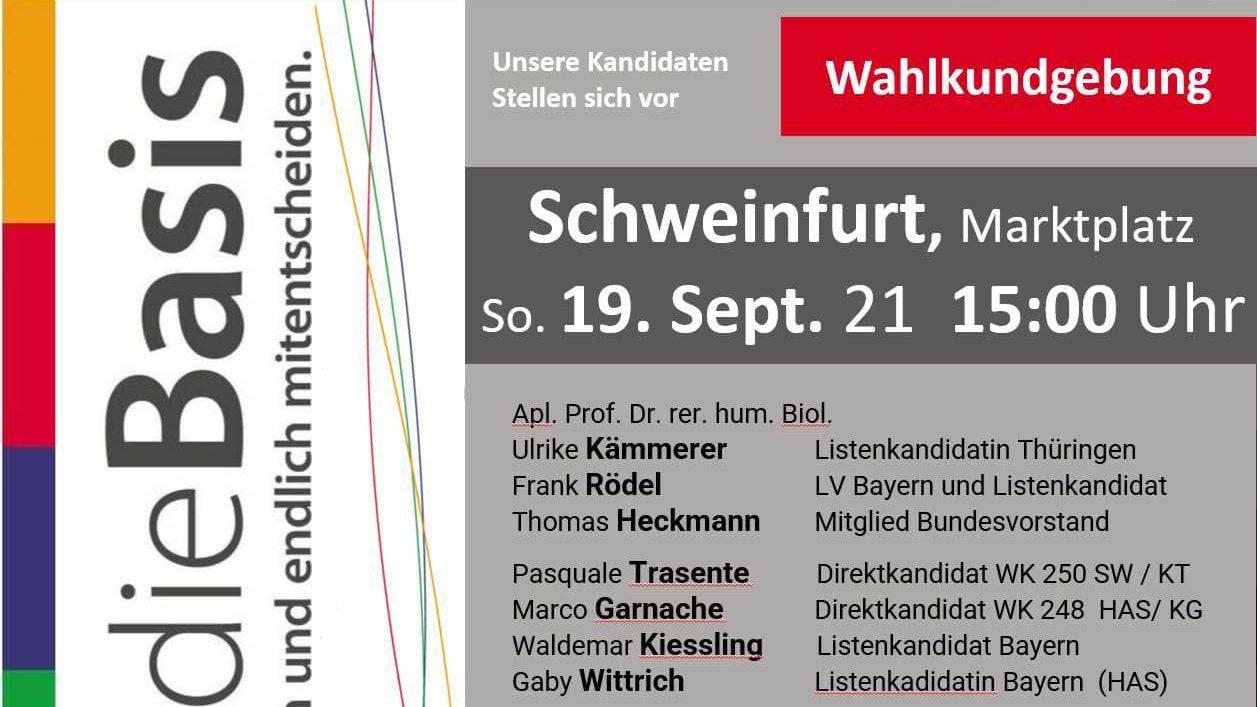 Wahlkundgebung In Schweinfurt