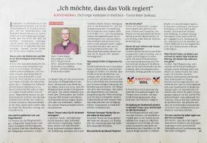 Torsten Weber in den Erlanger Nachrichten